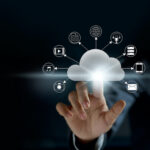 Cloud computing, futuristic display