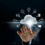 Cloud computing, futuristic display